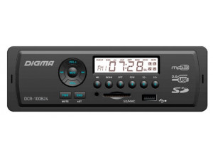Автомагнитола Digma DCR-100B24 1DIN 4x45Вт