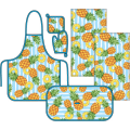 Комплект для кухни Традиция Ассорти Продукты фартук, приватка, овальное полотенце и два полотенца 37х70