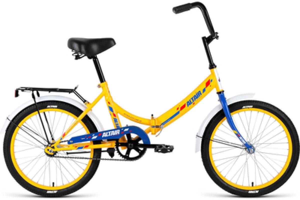 """Велосипед 20"""" Altair City 20 1 ск 17-18 г 14' Желтый-Синий/RBKN8YF01008"""