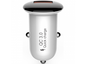 АЗУ Devia Mushroom Series QC 3.0 18W (1 USB), белый с черной шляпкой