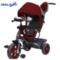 Galaxy RT Лучик VIVAT - трехколесный велосипед-коляска бордовый