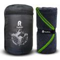 Полотенце спортивное охлаждающее RoadLike Terry 60*120 см серый-зеленый
