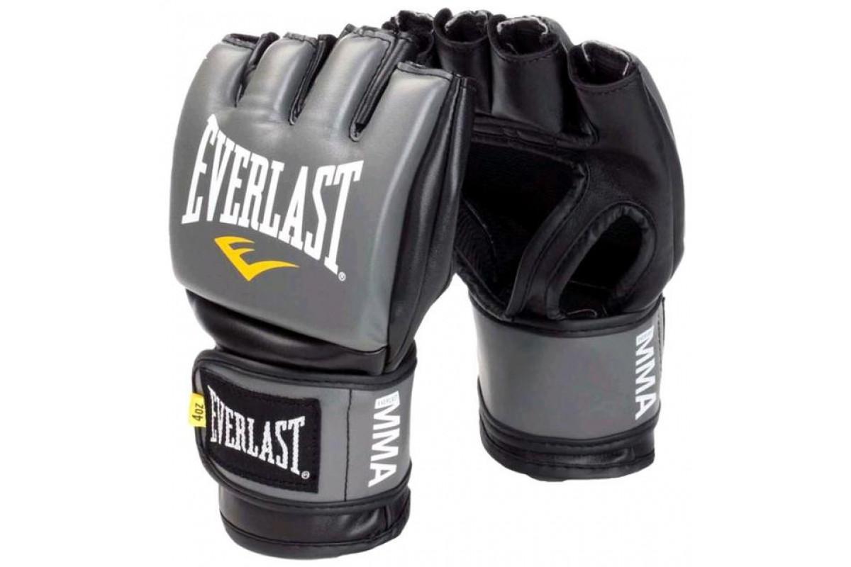 Перчатки для ММА и смешанных единоборств EVERLAST Pro Style Grappling 7778-GSMU Серый S-M