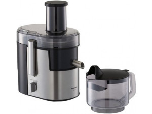 Соковыжималка центробежная Panasonic MJ-DJ01STQ 800Вт рез.сок.:1500мл. серебристый/черный