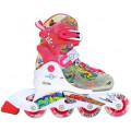 Роликовые коньки раздвижные Senhai Neon 26-29 Розовый