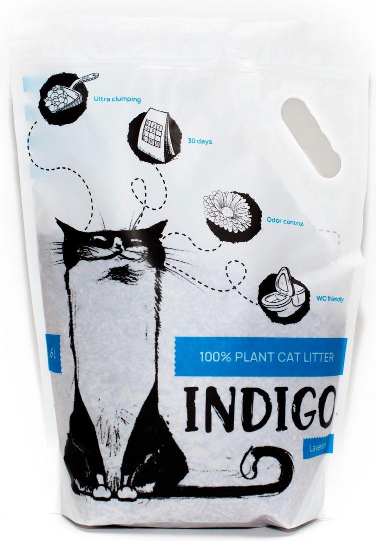 Наполнитель для кошачьего туалета Indigo растительный  Зеленый чай,  6л