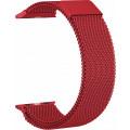 Ремешок сетчатый на магните для Apple Watch 44мм, красный