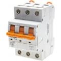 """Выключатель автоматический Светозар 3-полюсный, 6 A, """"C"""", откл. сп. 10 кА, 400 В"""