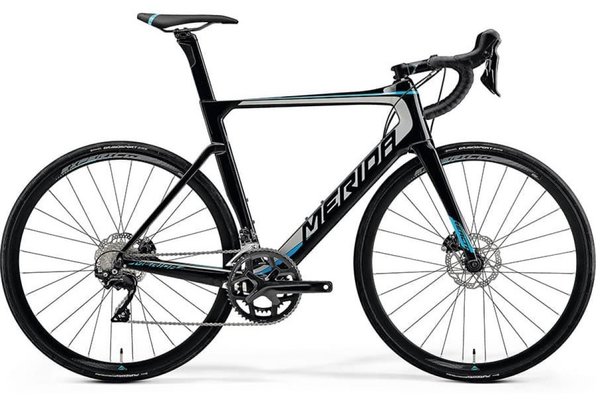 Велосипед Merida REACTO Disc-4000 MetallicBlack/Silver/Blue 2019 SM(52cm)(90886)