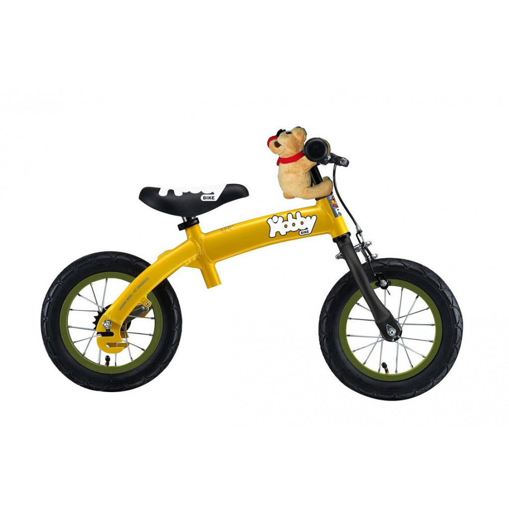 Hobby Bike RT original ALU NEW - детский велобалансир-велосипед желтый