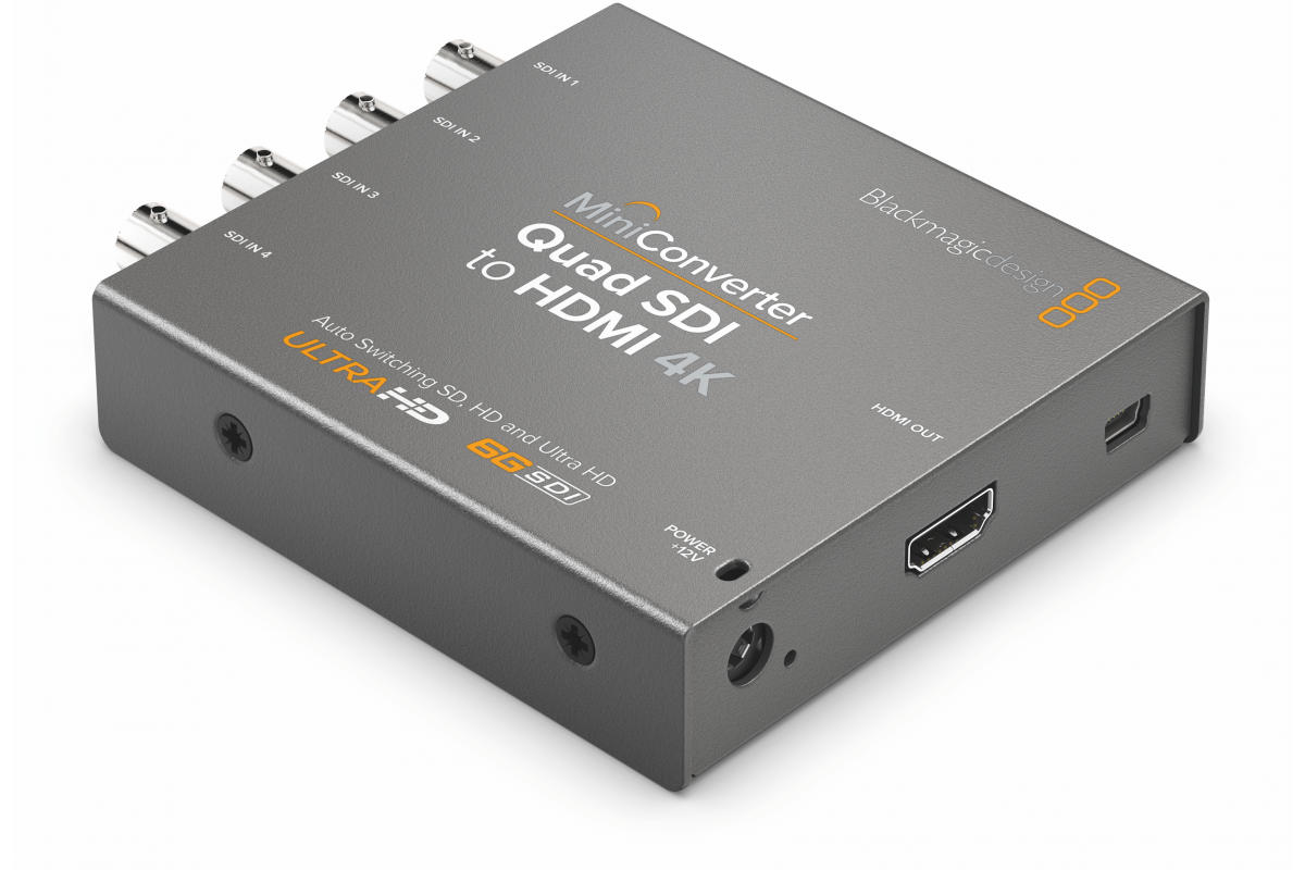 Blackmagic Mini Converter - Quad SDI to HDMI 4K