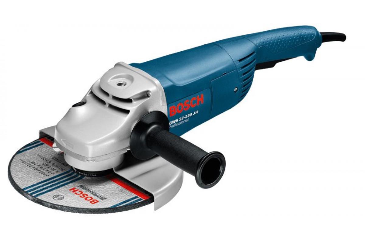 Углошлифовальная машина Bosch GWS 22-230 JH (0.601.882.203)  2200Вт 6500об/мин 230мм огр.пуск.тока