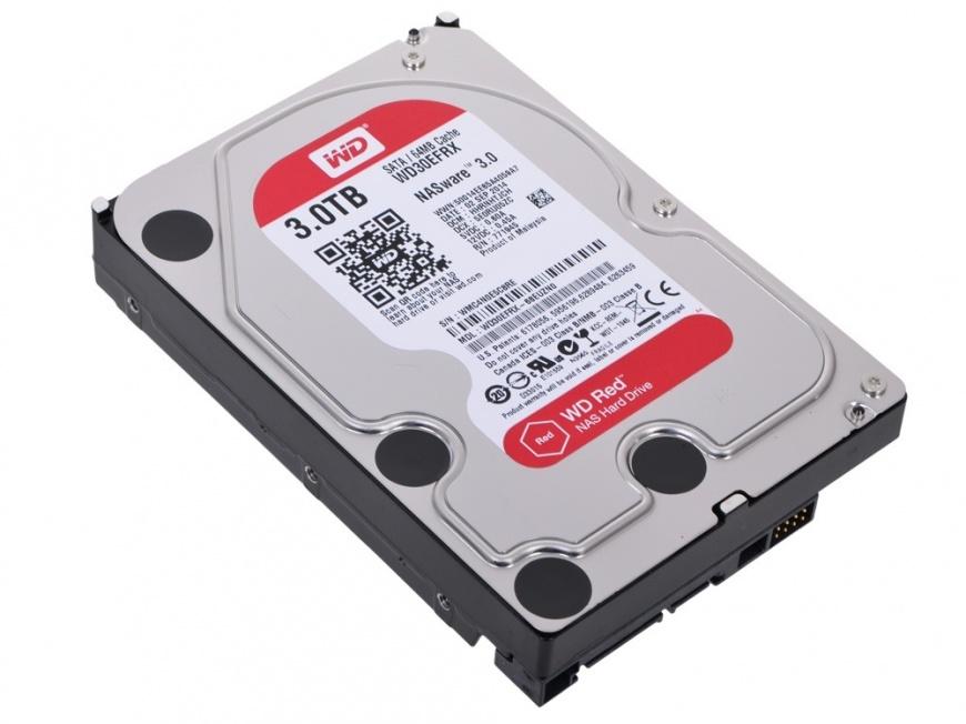 "Жёсткий диск Western Digital WD Red NAS Edition 3Tb 3,5"" IntelliPower 64MB (SATA-III) , WD30EFRX"