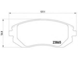 Колодки тормозные передние TEXTAR 2386501 для SUBARU FORESTER