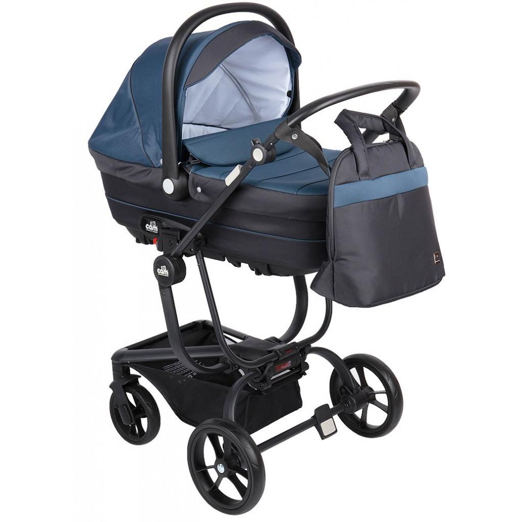 CAM Taski - универсальная коляска 3 в 1 (синий)