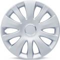 """Колпаки на колёса AUTOPROFI, PP пластик, регулировочный обод для разн. типов дисков, компл. из 4 шт., цветн. коробка, металлик, разм. 15"""" (370мм),, 1/4"""