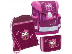 Набор: ранец Belmil Classy Pretty Owl, мешок для обуви и пенал без наполнения