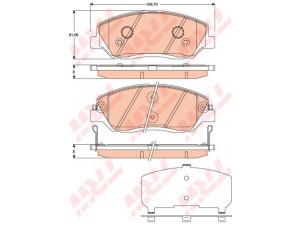 Колодки тормозные передние TRW  GDB3418 для HYUNDAI Santa Fe/KIA Sorento 09>
