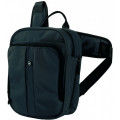 Сумка Victorinox Deluxe Travel Companion, с наплечными ремнями, черная, 21x10x27 см, 6л, 31174201