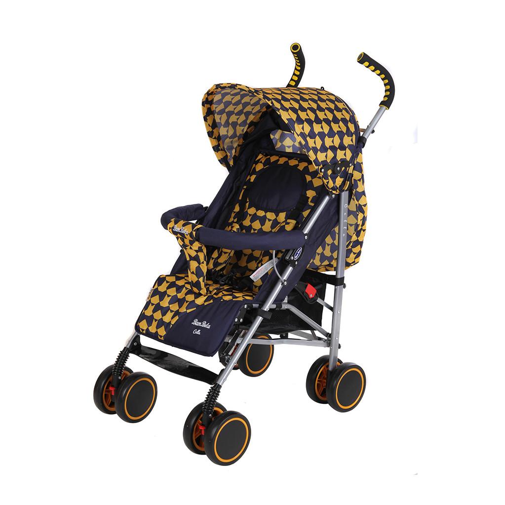 BamBola НР-313 Клетка - прогулочная коляска-трость желто-синяя