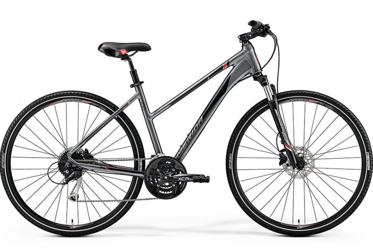Велосипед Merida Crossway 100 Lady DarkSilver/Red/Black 2019 XS(43cm)(79968)