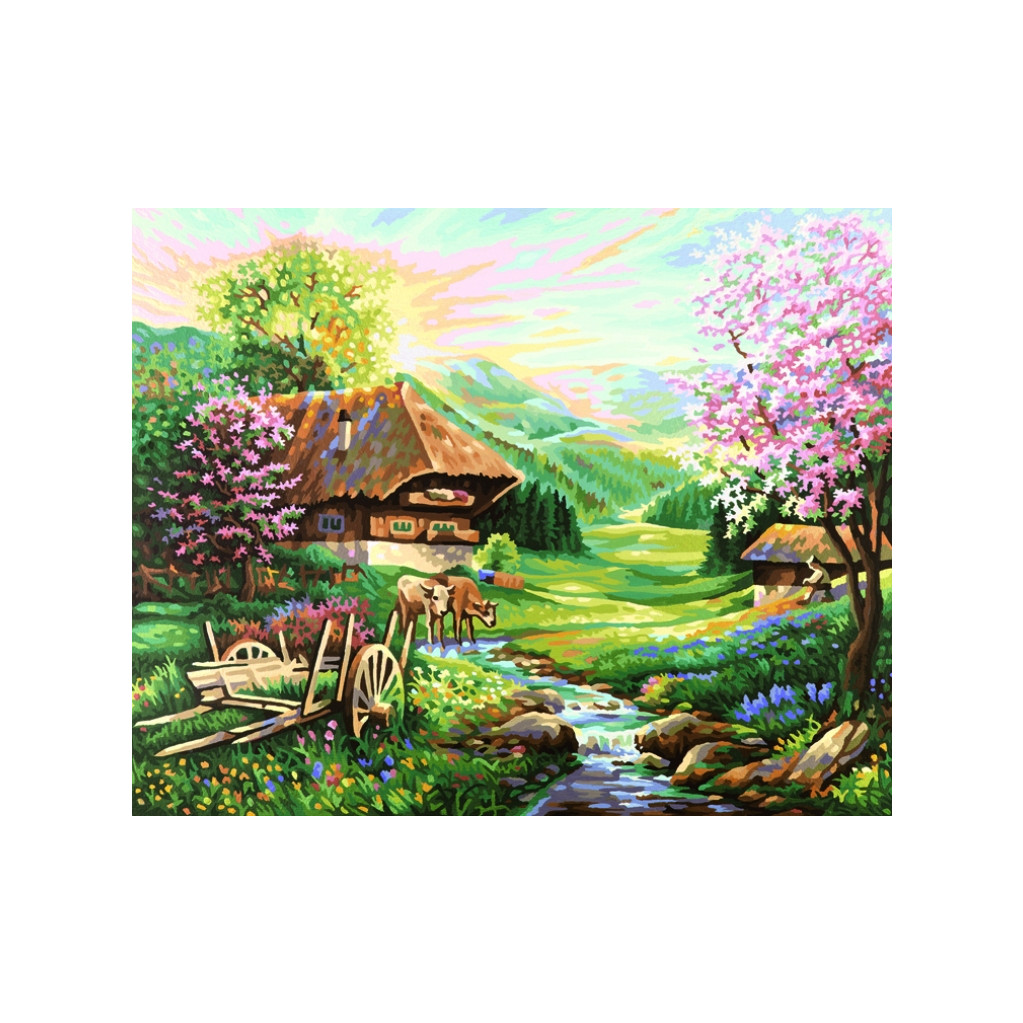 Schipper Весна - раскраска по номерам, 40х50 см