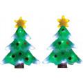 Световое панно SHLights Две елочки, 32 светодиода, 22х30 см, 2 шт. в наборе, мульти PKQE08SWS71/71/1
