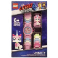 Часы наручные аналоговые Lego Movie 2 с минифигурой Unikitty на ремешке