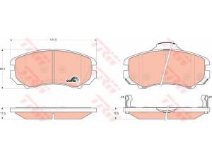 Колодки тормозные передние TRW  GDB3352 для HYUNDAI TUCSON/SONATA/ELANTRA KIA SPORTAGE/MAGENTI