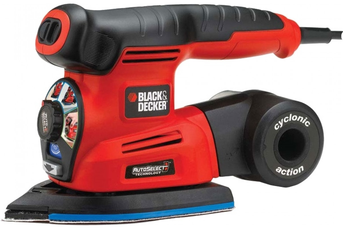 Шлифмашина дельта Black & Decker KA280K-QS  4в1 220Вт диск125мм платф.136см2 насадки кейс