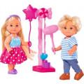 Simba Еви кукла и Тимми на аттракционах