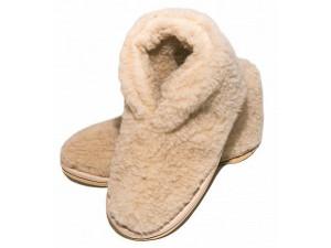 Бабуши Smart textile из овечьего меха 40-41 бежевые