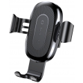 Держатель Baseus для смартфона в машину с быстрой беспроводной зарядкой, черный