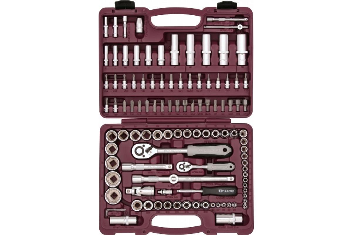 Набор инструментов Thorvik UTS0108  универсальный 1/4'' 1/2''DR 108 пр.