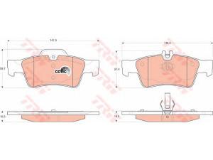 Колодки тормозные задние TRW  GDB1546 для MB W211/S211/C219