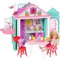 Barbie Домик Челси с куклой DWJ50