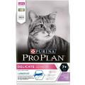 Корм для кошек старше 7 лет с чувствительным пищеварением ProPlan Delicate Senior, индейка, 3 кг