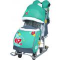 Ника Детям 7 2 - детские санки-коляска, лисичка изумрудный
