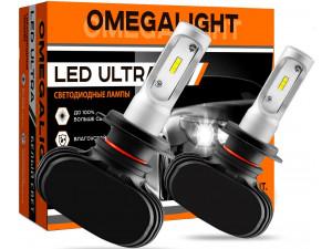 Лампа автомобильная LED светодиодная Omegalight Ultra HB4 2500lm (2шт)