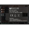 Аккумулятор Raylab RL-LPE6 1600мАч (для EOS 6D 60D, 70D, 80D, 7D, 5D mark II, mark III)