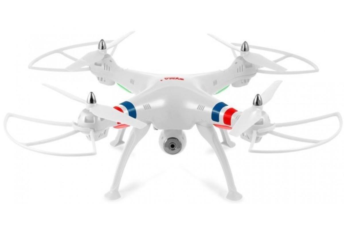 Квадрокоптер Syma X8W с трансляцией видео, белый