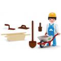 Игровой набор Efko Фигурка строителя-каменщика 8 см с аксессуарами