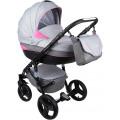 McCAN коляска 3 в 1 Aveo (т.серый+серый+розовый)