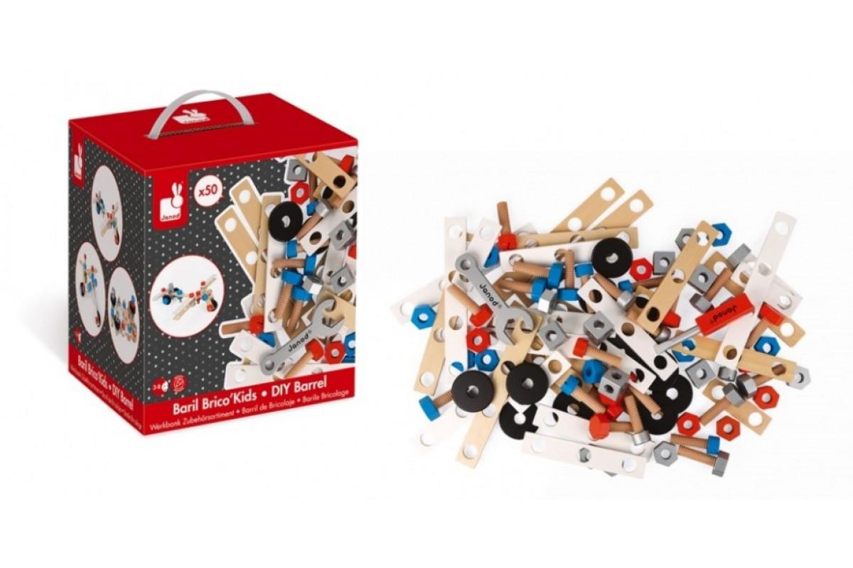 Janod Конструктор Brico'Kids в коробке: 50 элементов