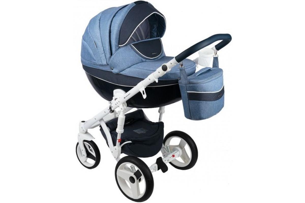 Adamex Monte Carbon - коляска 3 в 1 голубой D22