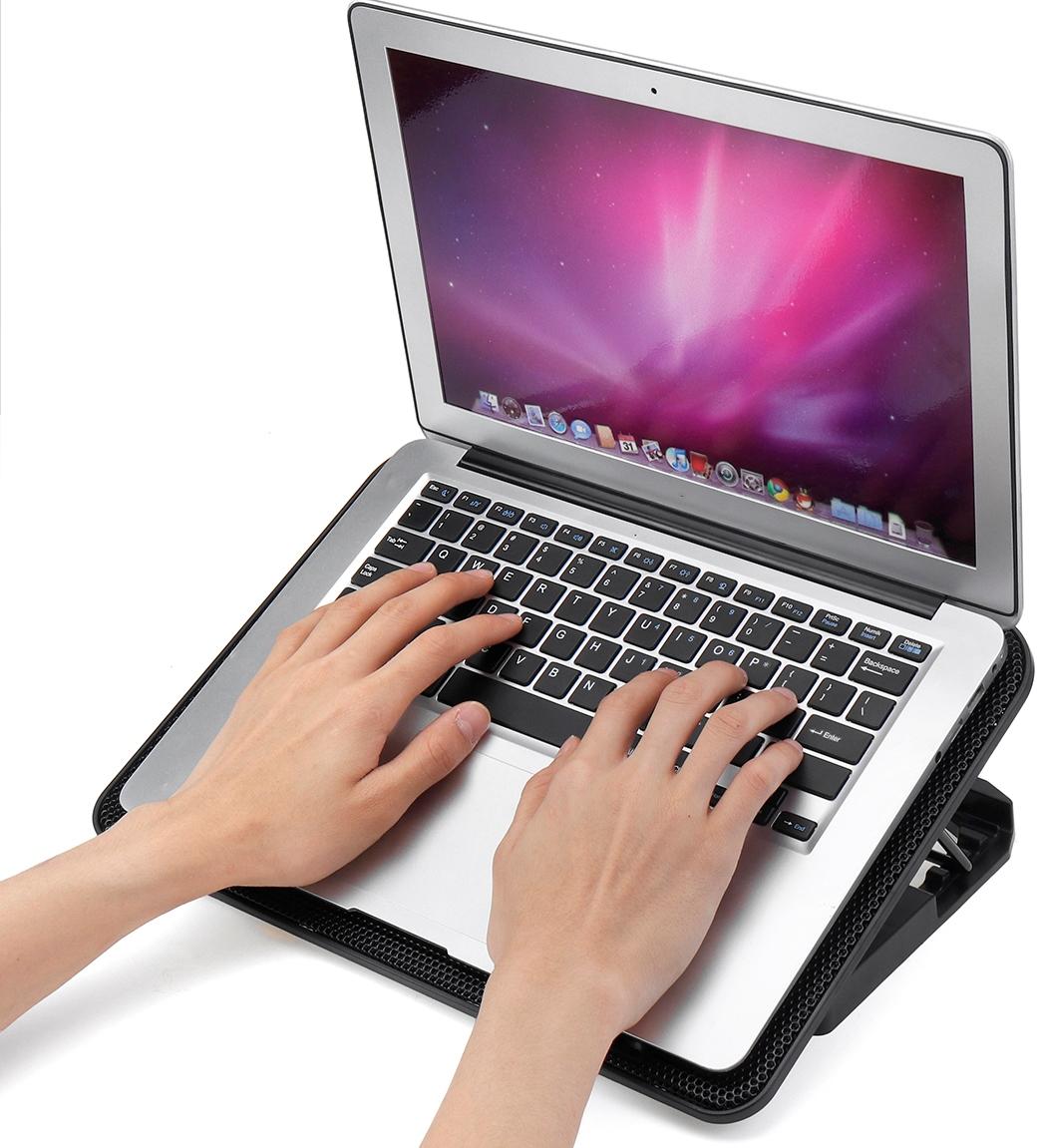 """Охлаждающая подставка для ноутбука 10-17"""", 2 USB-порта, 6 вентиляторов"""