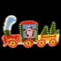Фигура из дюралайта SHLights Рождественский поезд, фон из пластика, 78х47.5 см I-R-PP5TN