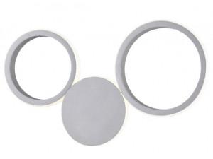 Настенный светодиодный светильник Eurosvet Rings 40141/1 LED серебро