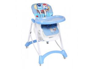 Corol S1 - стульчик для кормления голубой (круиз)