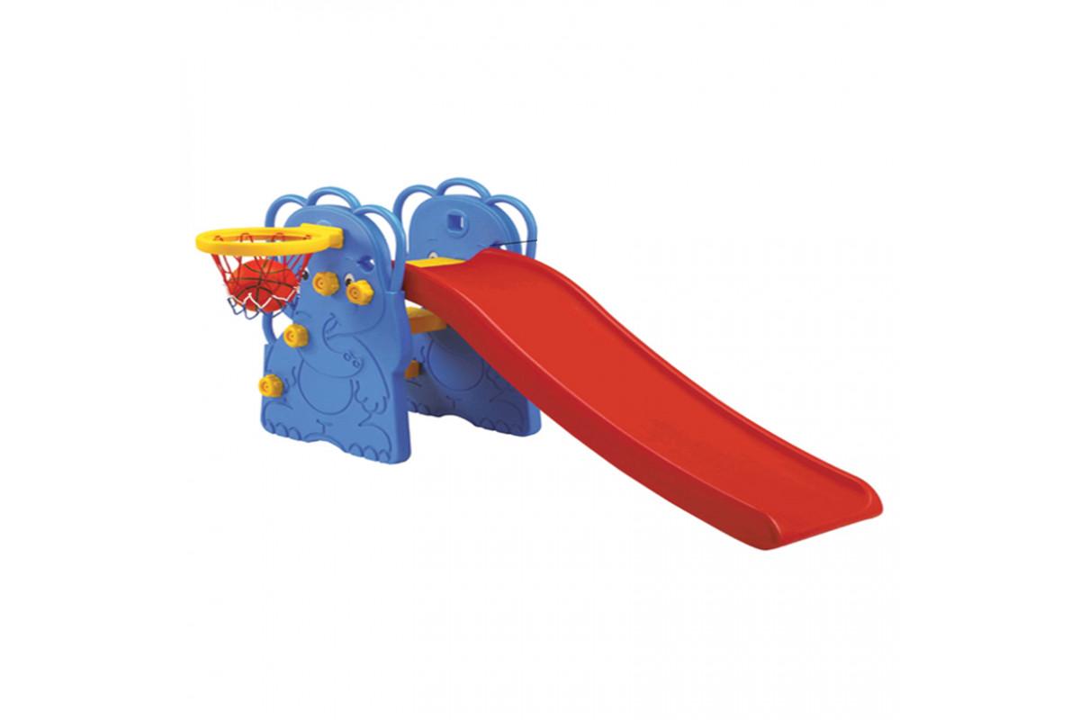 Edu-Play WJ-310 Слоненок - горка детская с баскетбольным кольцом